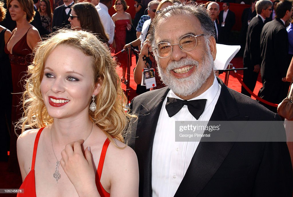 Thora Birch and Francis Ford Coppola during The 55th Annual Primetime Emmy Awards - Access Hollywood Red Carpet at The Shrine Theater in Los Angeles, California, United States.