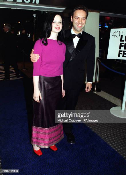 Thora Birch and Sam Mendes at the closing night gala of The London Film Festival for the European premiere of Sam Mendes' cinematic debut American...
