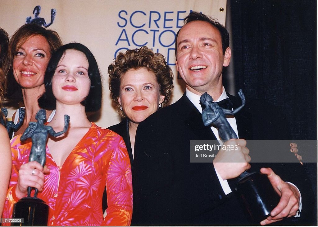Thora Birch, Annette Bening and Kevin Spacey at the 6th Annual Screen Actors Guild Awards at Shrine Auditorium in Los Angeles, California.