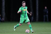 Thorben Marx of Borussia Moenchengladbach during a friendly match between Borussia Moenchengladbach and Arminia Bielefeld on January 11 2015 in Belek...