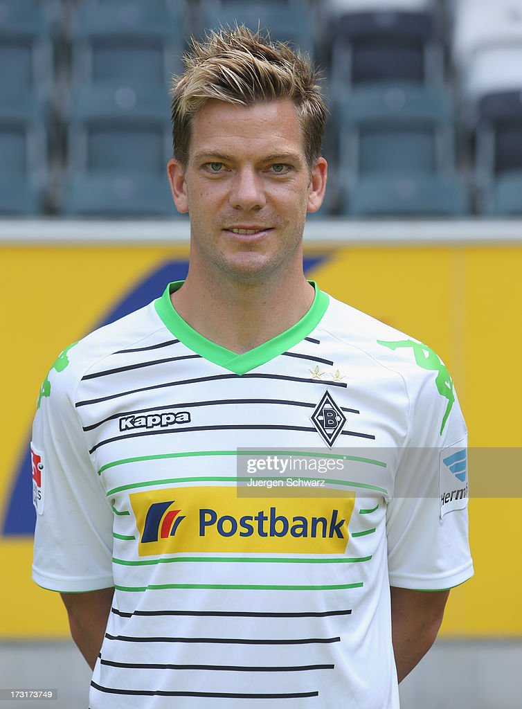 Thorben Marx poses during the team presentation of Borussia Moenchengladbach on July 9, 2013 in Moenchengladbach, Germany.