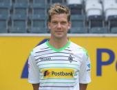 Thorben Marx poses during the team presentation of Borussia Moenchengladbach on July 9 2013 in Moenchengladbach Germany