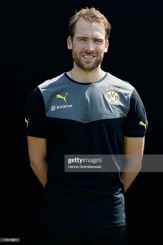 Thorben Voeste poses during the Borussia Dortmund Team Presentation at Brackel Training Ground on July 9, 2013 in Dortmund, Germany.
