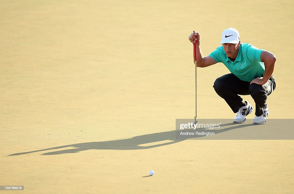 Thorbjorn Olesen of Denmark in action during the final round of The Abu Dhabi HSBC Golf Championship at Abu Dhabi Golf Club on January 20, 2013 in Abu Dhabi, United Arab Emirates.
