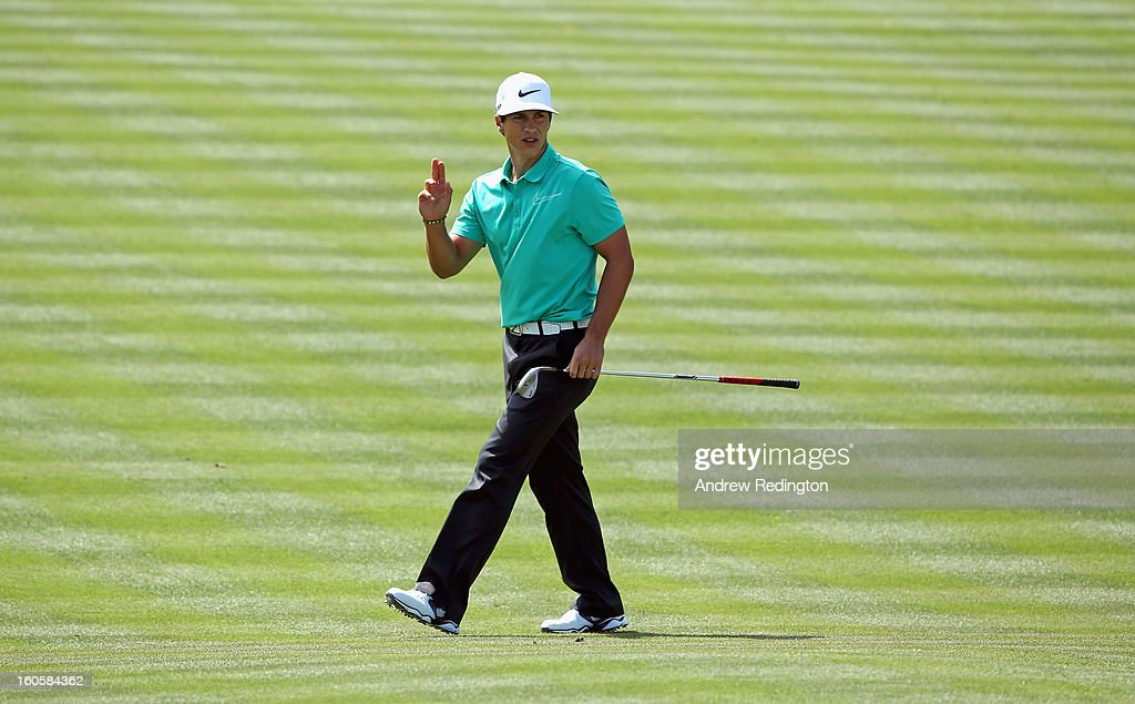 Thorbjorn Olesen of Denmark in action during the final round of the Omega Dubai Desert Classic at Emirates Golf Club on February 3, 2013 in Dubai, United Arab Emirates.
