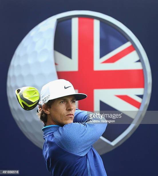 Thorbjorn Olesen of Denmark in action during the Pro Am event prior to the start of the British Masters supported by Sky Sports at Woburn Golf Club...