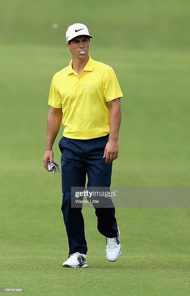 <a gi-track='captionPersonalityLinkClicked' href=/galleries/search?phrase=Thorbjorn+Olesen&family=editorial&specificpeople=6545194 ng-click='$event.stopPropagation()'>Thorbjorn Olesen</a> of Denmark in action during the Pro-Am for the Volvo Golf Champions at Durban Country Club on January 9, 2013 in Durban, South Africa.