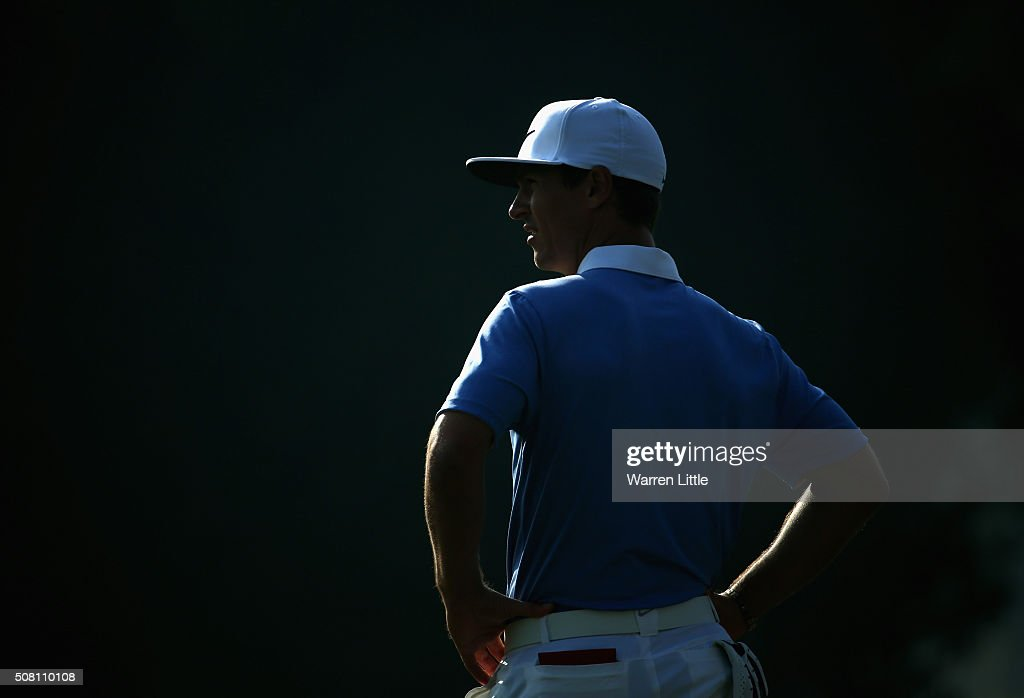 <a gi-track='captionPersonalityLinkClicked' href=/galleries/search?phrase=Thorbjorn+Olesen&family=editorial&specificpeople=6545194 ng-click='$event.stopPropagation()'>Thorbjorn Olesen</a> of Denmark looks on during the pro-am event prior to the Omega Dubai Desert Classic on the Majlis course at the Emirates Golf Club on February 3, 2016 in Dubai, United Arab Emirates.