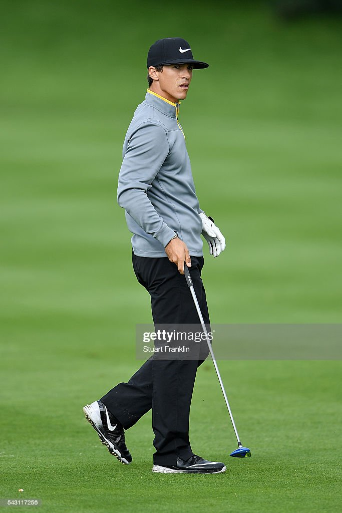 <a gi-track='captionPersonalityLinkClicked' href=/galleries/search?phrase=Thorbjorn+Olesen&family=editorial&specificpeople=6545194 ng-click='$event.stopPropagation()'>Thorbjorn Olesen</a> of Denmark looks on during the rain delayed third round of the BMW International Open at Gut Larchenhof on June 26, 2016 in Cologne, Germany.