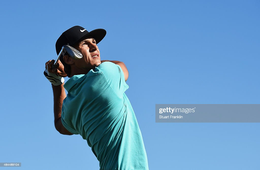 <a gi-track='captionPersonalityLinkClicked' href=/galleries/search?phrase=Thorbjorn+Olesen&family=editorial&specificpeople=6545194 ng-click='$event.stopPropagation()'>Thorbjorn Olesen</a> of Denmark plays a shot during the Pro - Am prior to the start of the Made in Denmark golf at Himmerland Golf & Spa Resort on August 19, 2015 in Aalborg, Denmark.