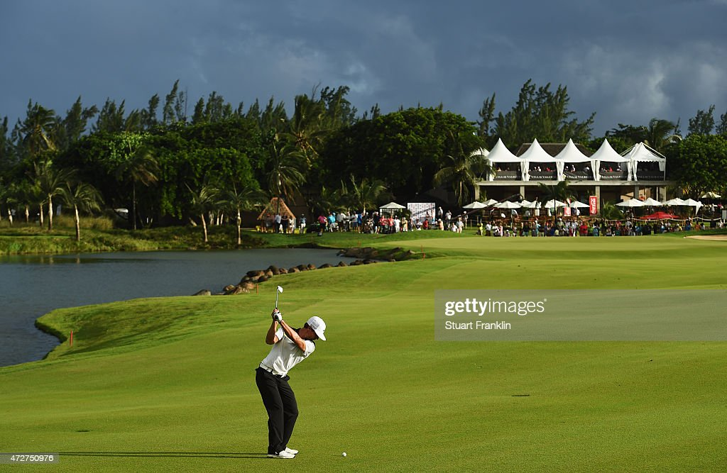 <a gi-track='captionPersonalityLinkClicked' href=/galleries/search?phrase=Thorbjorn+Olesen&family=editorial&specificpeople=6545194 ng-click='$event.stopPropagation()'>Thorbjorn Olesen</a> of Denmark plays a shot on the 18th hole during the third round of the AfrAsia Bank Mauritius Open at Heritage Golf Club on May 9, 2015 in Bel Ombre, Mauritius.