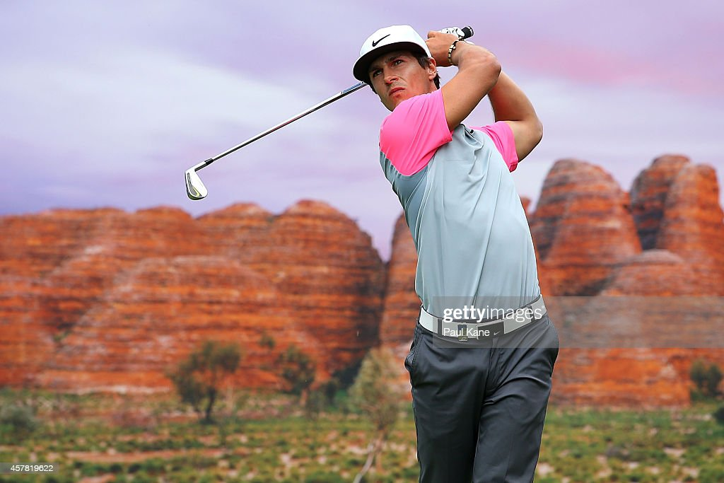 <a gi-track='captionPersonalityLinkClicked' href=/galleries/search?phrase=Thorbjorn+Olesen&family=editorial&specificpeople=6545194 ng-click='$event.stopPropagation()'>Thorbjorn Olesen</a> of Denmark tees off on the 15th hole during day three of the 2014 Perth International at Lake Karrinyup Country Club on October 25, 2014 in Perth, Australia.