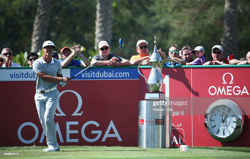 <a gi-track='captionPersonalityLinkClicked' href=/galleries/search?phrase=Thorbjorn+Olesen&family=editorial&specificpeople=6545194 ng-click='$event.stopPropagation()'>Thorbjorn Olesen</a> of Denmark tees off on the 1st hole during the final round of the Omega Dubai Desert Classic at the Emirates Golf Club on February 7, 2016 in Dubai, United Arab Emirates.
