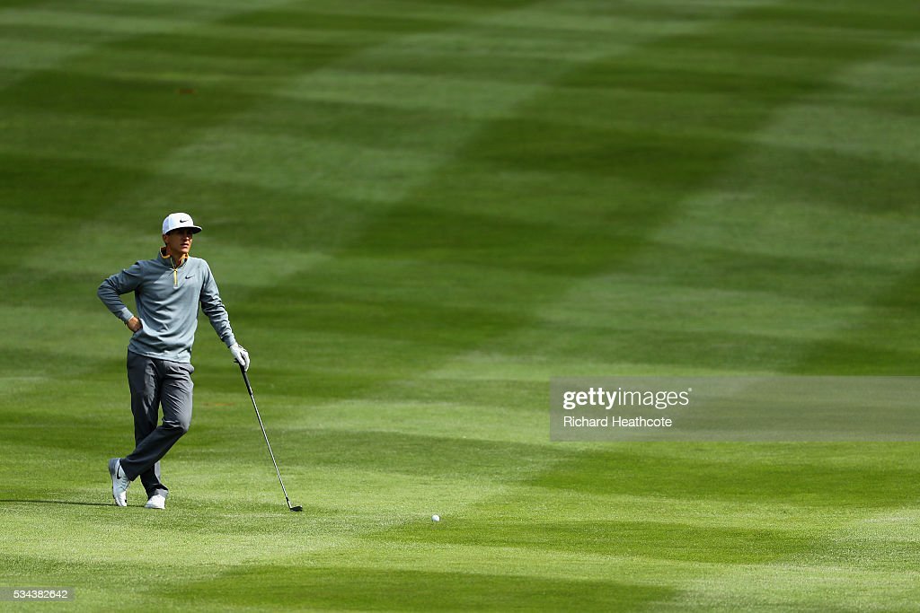 <a gi-track='captionPersonalityLinkClicked' href=/galleries/search?phrase=Thorbjorn+Olesen&family=editorial&specificpeople=6545194 ng-click='$event.stopPropagation()'>Thorbjorn Olesen</a> of Denmark waits on the 4th hole during day one of the BMW PGA Championship at Wentworth on May 26, 2016 in Virginia Water, England.