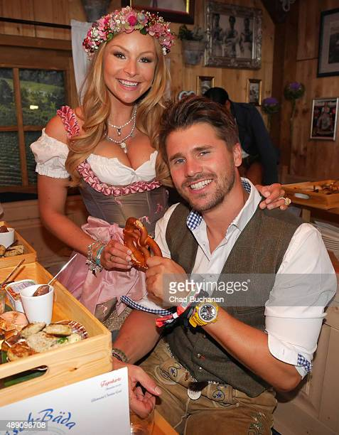 Thore Schoelermann and Jana Kilka sighted at the Fisch Baeda during the Oktoberfest 2015 Opening at Theresienwiese on September 19 2015 in Munich...