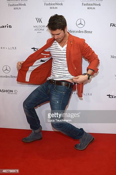 Thore Schoelermann arrives for the Barre Noire Show during MercedesBenz Fashion Week Autumn/Winter 2014/15 at Brandenburg Gate on January 15 2014 in...