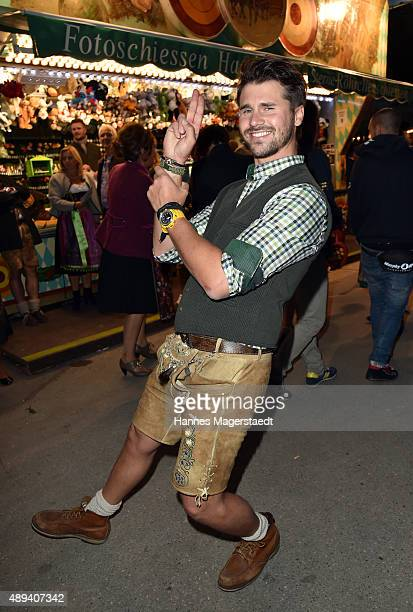 Thore Schoelermann attends the Almauftrieb during the Oktoberfest 2015 at Kaefer Tent on September 20 2015 in Munich Germany