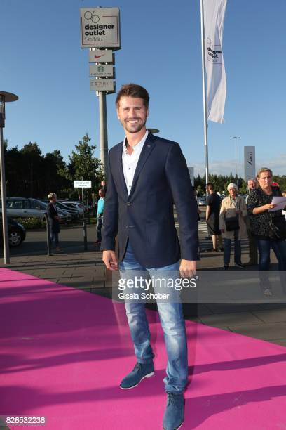 Thore Schoelermann during the late night shopping at Designer Outlet Soltau on August 4 2017 in Soltau Germany