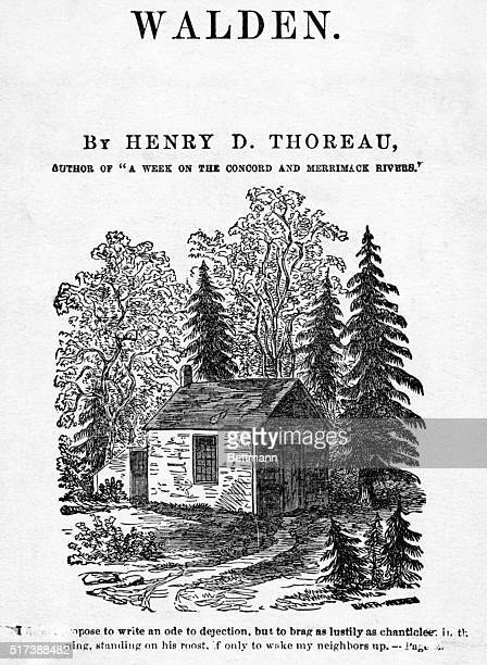Thoreau's Hut ten by fifteen feet Total cost all told $2812 Undated illustration BPA2# 1564