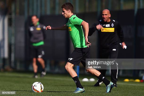 Thorgan Hazard controles the ball during a Borussia Moenchengladbach training session on day 5 of the Bundesliga Belek training camps at Maxx Royal...
