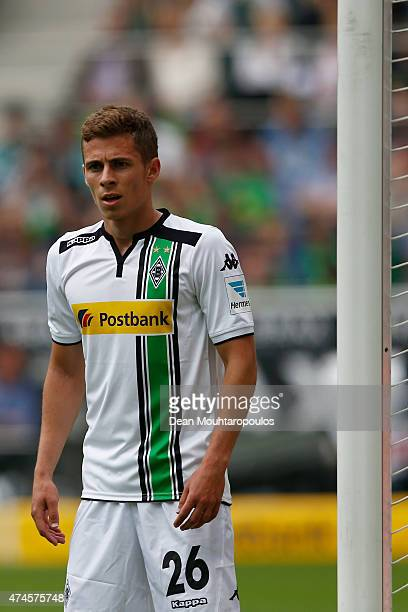 Thorgan Hazard of Borussia Moenchengladbach in action during the Bundesliga match between Borussia Moenchengladbach and FC Augsburg held at Borussia...