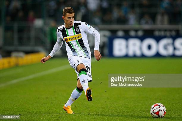 Thorgan Hazard of Gladbach in action during the Bundesliga match between Borussia VfL 1900 Monchengladbach eVand 1 FSV Mainz 05 Bundesliga held at...