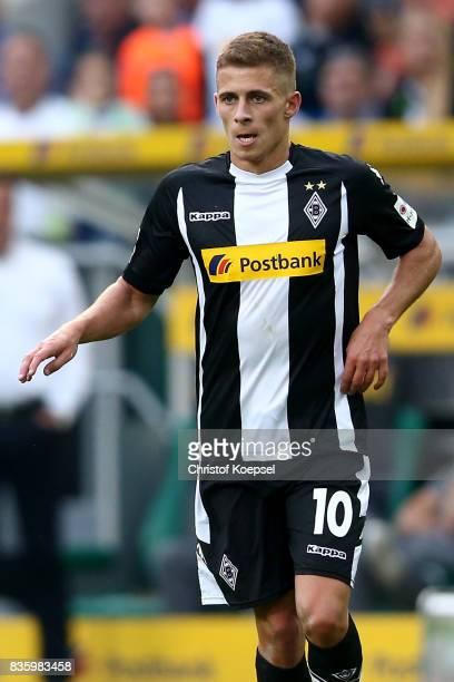 Thorgan Hazard of Mnchengladbach is seen during the Bundesliga match between Borussia Moenchengladbach and 1 FC Koeln at BorussiaPark on August 20...