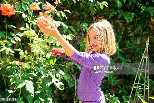 Thorns and scissors - worried little girl