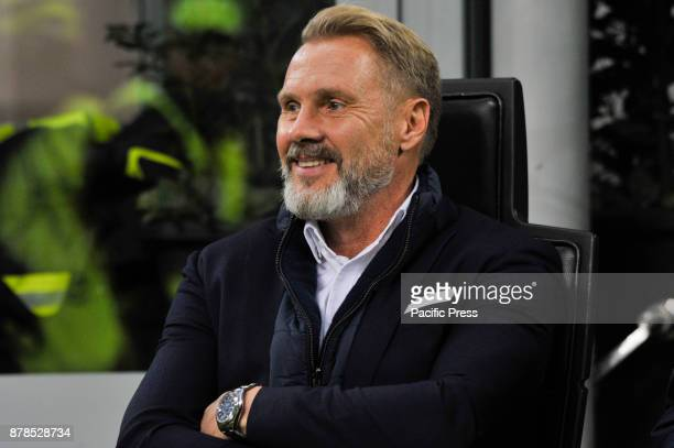 Thorrsten Fink head coach of FK Austria Wien during uefa Europa League AC Milan vs FK Austria Wien at San Siro Stadium AC Milan wins 51 over FK...