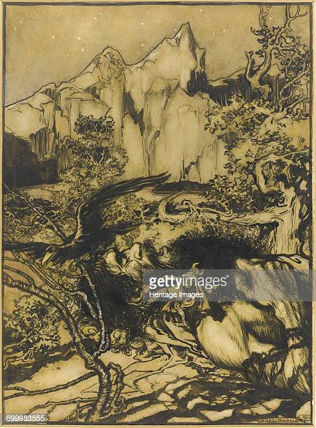 Thor's Journey to the Land of the Giants 1901 Private Collection Artist Rackham Arthur