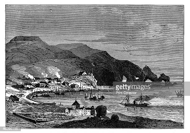 Thorshavn the capital of the Faroe Islands c1890 An engraving from Robert Brown's The Countries of the World Cassell