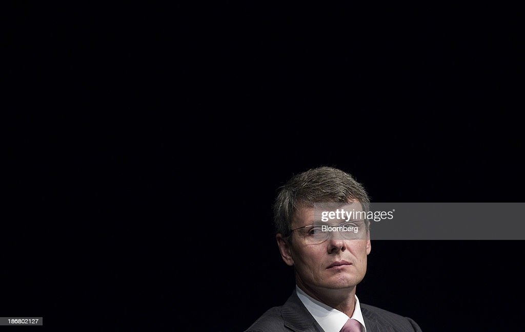 <a gi-track='captionPersonalityLinkClicked' href=/galleries/search?phrase=Thorsten+Heins&family=editorial&specificpeople=6636159 ng-click='$event.stopPropagation()'>Thorsten Heins</a>, chief executive officer of BlackBerry, listens during the company's annual general meeting in Waterloo, Ontario, Canada, on Tuesday, July 9, 2013. BlackBerry Ltd. abandoned plans to sell itself and began searching for a new chief executive officer after a $4.7 billion takeover plan collapsed. CEO <a gi-track='captionPersonalityLinkClicked' href=/galleries/search?phrase=Thorsten+Heins&family=editorial&specificpeople=6636159 ng-click='$event.stopPropagation()'>Thorsten Heins</a> will step down. Photographer: Pawel Dwulit/Bloomberg via Getty Images