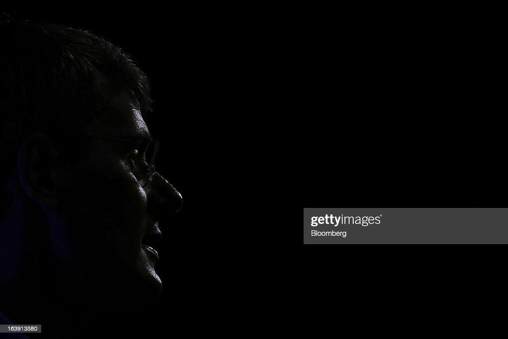 Thorsten Heins chief executive officer of BlackBerry speaks during the launch of the BlackBerry Z10 smartphone in Sydney Australia on Monday March 18...