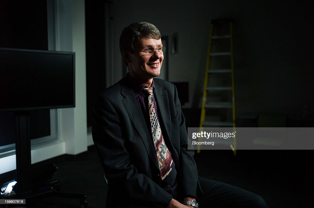 Thorsten Heins, president and chief executive officer of Research In Motion Ltd. (RIM), speaks during a Bloomberg Television interview in Waterloo, Ontario, Canada, on Thursday, Dec. 20, 2012. Subscribers that want enhanced services, including advanced security, will continue to pay a fee, while others who do not use such services 'are expected to generate less or no service revenue,' Heins said. Photographer: Ian Willms/Bloomberg via Getty Images