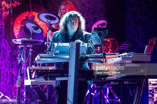 Thorsten Quaeschning from Tangerine Dream performs at Le Trianon on May 22 2014 in Paris France