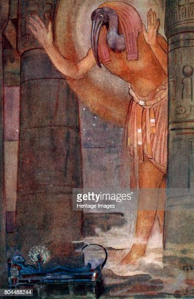 Thoth and the Chief Magician' 1925 Thoth was one of the Gods of Ancient Egypt He was portrayed as a man with the head of either a baboon or as here...