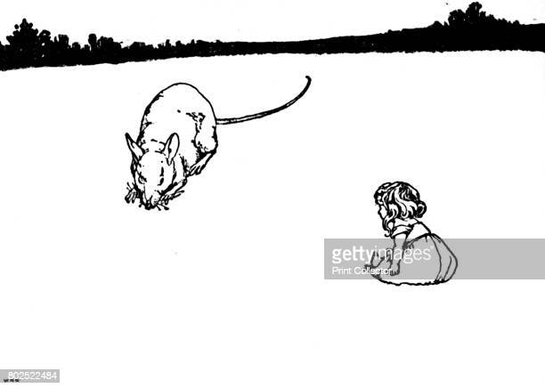 Thou Poor Little Thing Said the FieldMouse' c1930 An illustration from 'Tommelise' by Hans Christian Andersen From Hans Andersen's Fairy Tales by...