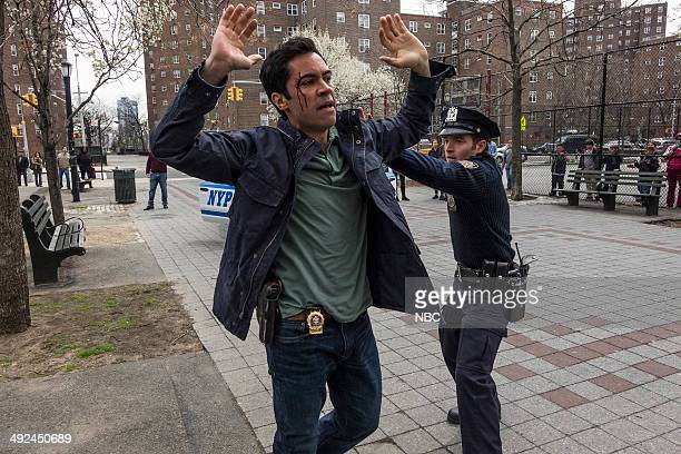 UNIT 'Thought Criminal' Episode 1523 Pictured Danny Pino as Det Nick Amaro Rory Duffy as police officer