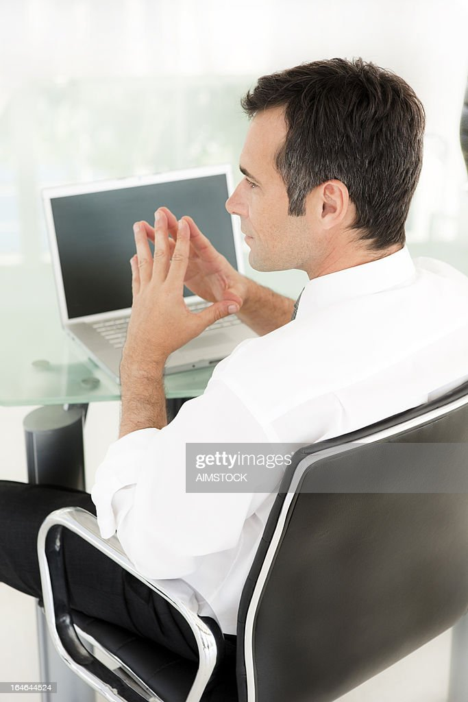 Thoughtful Businessman : Stock Photo