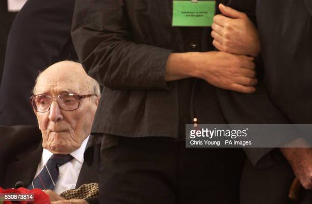 A thoughtful Jack Davis a 107 year old veteren from the Western Front is deep in contemplation as the last post is played at The Menin Gate Ypres...
