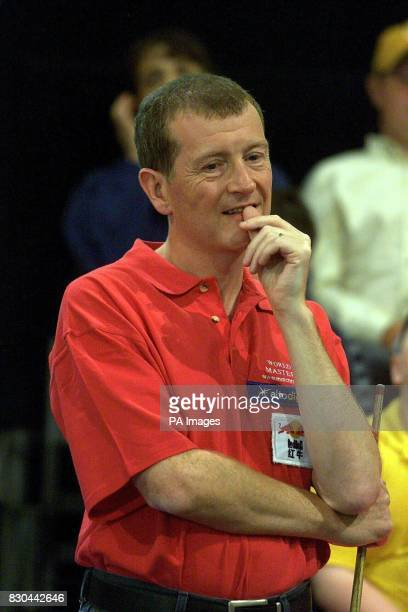 A thoughtful Steve Davis During the 2000 World Pool Master Tournament at The Lakeside Shopping Centre in Essex