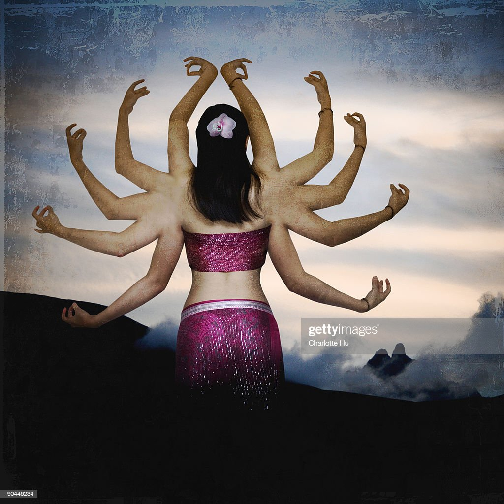 Thousand Hand Guan Yin : Stock Photo