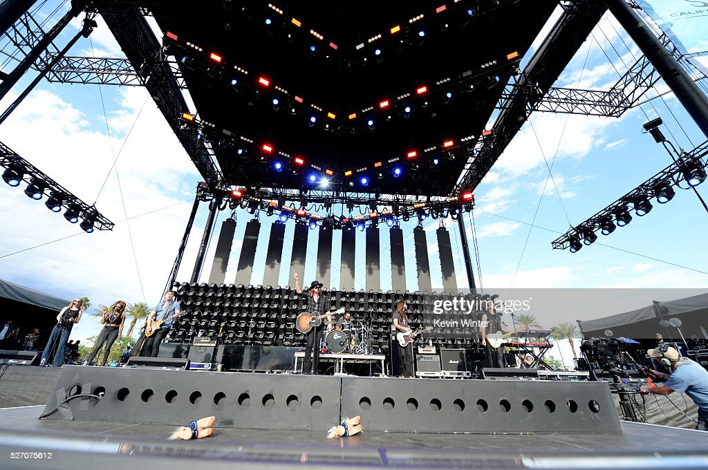 A Thousand Horses perform onstage during 2016 Stagecoach California's Country Music Festival at Empire Polo Club on May 01, 2016 in Indio, California.