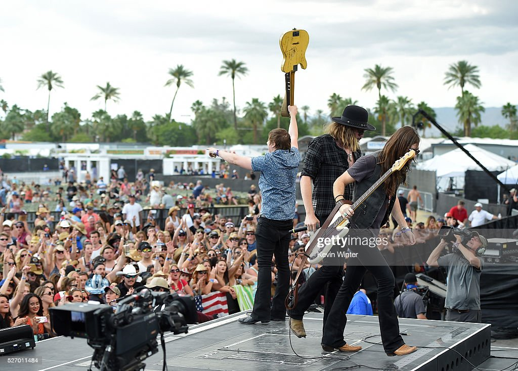 A Thousand Horses performs onstage during 2016 Stagecoach California's Country Music Festival at Empire Polo Club on May 01, 2016 in Indio, California.