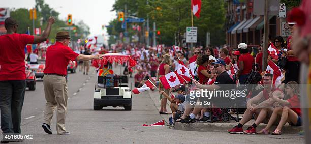 Thousand lined the streets of Port Credit as Canada Day celebrations were in full swing at Paint the Town Red in Mississauga's Port Credit district...