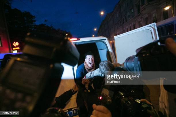 Thousands attend an unauthorized antiKremlin rally called by opposition leader Alexei Navalny who is serving a 20day jail sentence in downtown Saint...