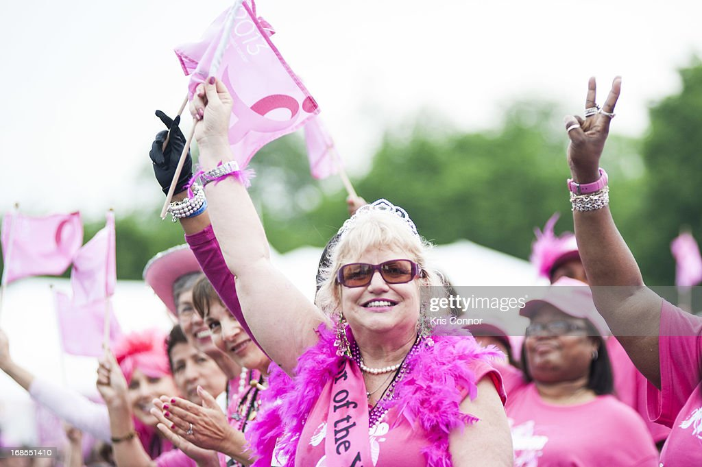 Thousands attend and run The 24th Annual Susan G. Komen Global Race For The Cure on May 11, 2013 in Washington, United States.
