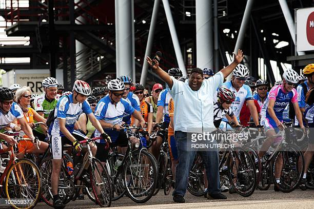 Thousands of amateur cyclists take part in a cycling tour across the route of the first stages of the Tour de France in Rotterdam on July 1 2010 The...