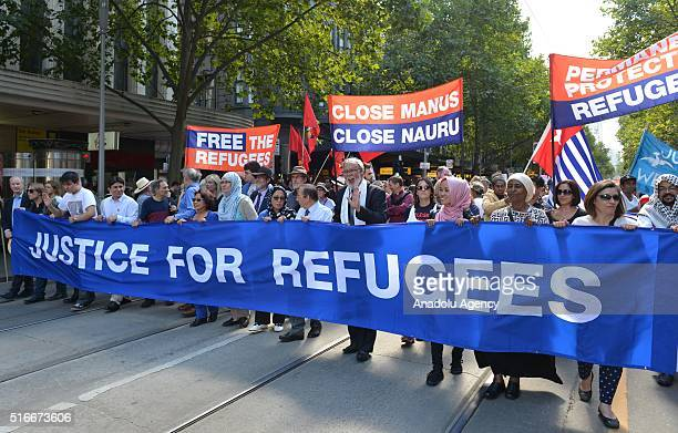 Thousands of Australian have taken to the streets of Australia during a protest demanding that refugees not be send back to Nauru or Manus Island on...