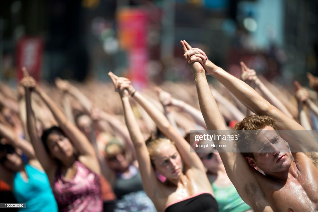 CONTENT] Thousands of Bikram Yoga aficionados converged on New York City's Times Square on June 20, 2012, the summer solstice, for the world's largest Bikram Yoga class.